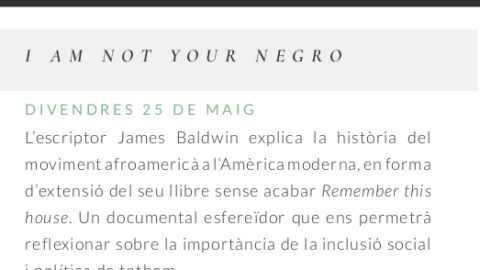 "Cinefòrum: ""I am not your negro"""