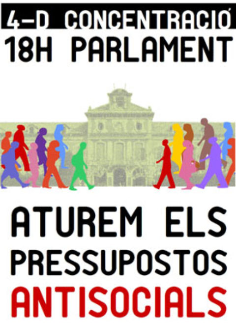 #NOTICIA: #4D Concentració al Parlament
