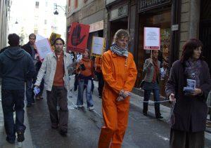 Acció protesta al Raval, 2010